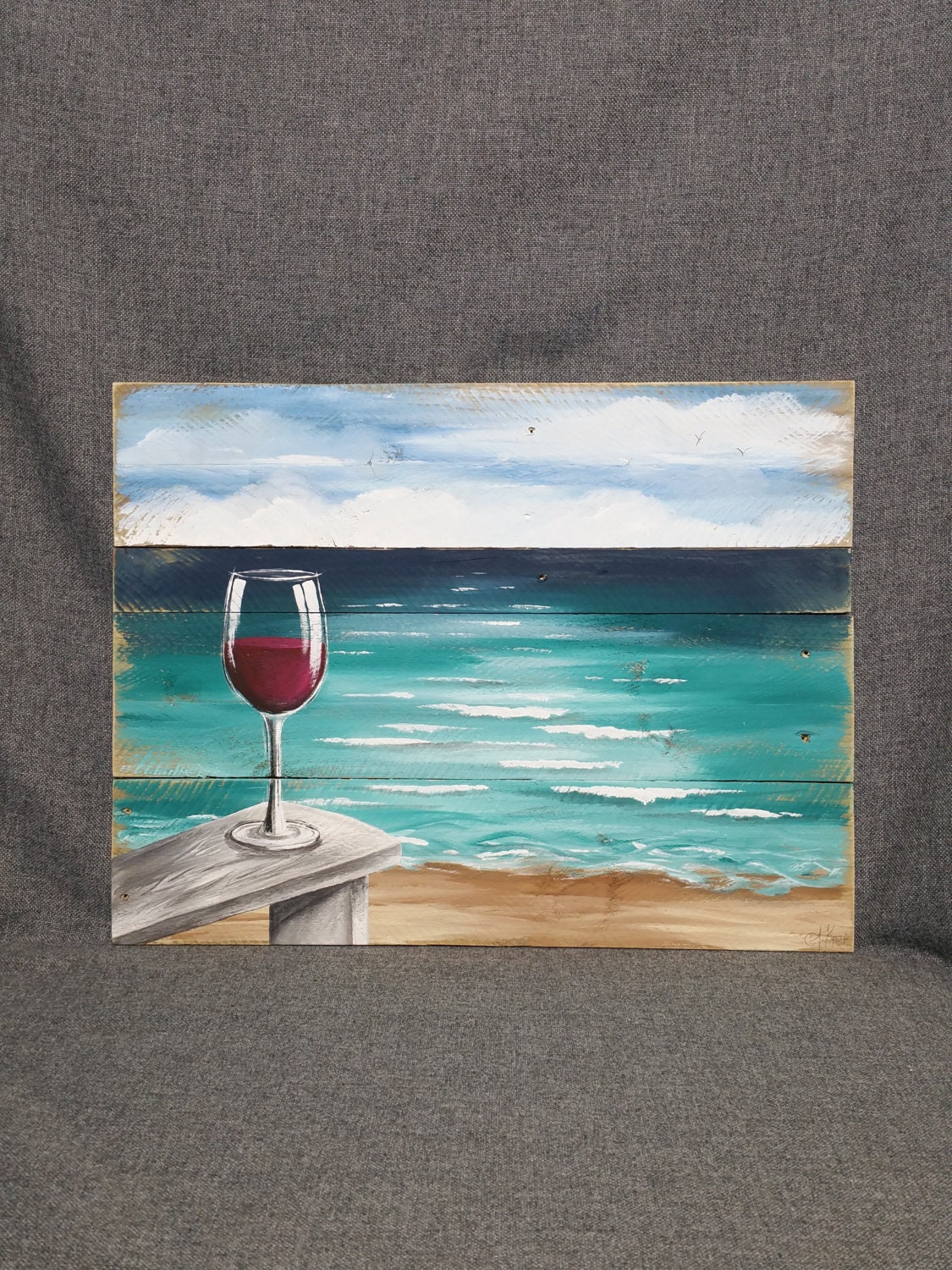 Beach chairs on the beach painting - This Shop Is Taking A Short Break