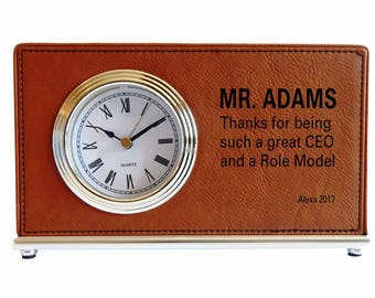 Custom Gift to the CEO, Executive Director Appreciation Gift, Manager Custom Gift, Thank you Personalized Gift to my Boss, Desk Clock, LB005