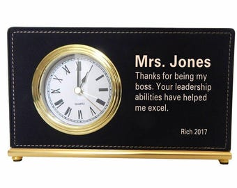 Employer Gifts, Thank you Gift to my Supervisor, Appreciation Gift to my Lead, Manager Custom Gift, Executive Director, Desk Clock, LB012