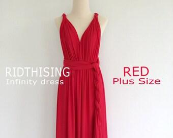 Burgundy Wine Red Long Floor Length Ball Gown Infinity Dress