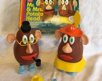Vintage Mr and Mrs Potato Head Play Set Sears Romper Room Hasbro 1980