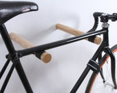 Copenhagen - wall mount bike rack for bike storage / bike hooks / bicycle holder / bike accessories / cycling gift / natural