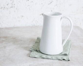 Ceramic Pitcher, White Pitcher, Ceramic Water Pitcher, Water Carafe, Serving Pitcher, Pottery Pitcher, Ceramic Carafe. Housewarming Gift