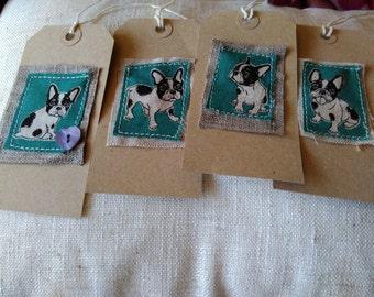 French Bulldog gift tags x 4