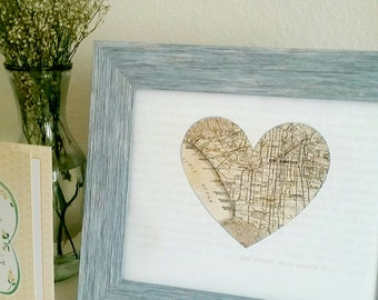 Heart Map with song lyrics. Gifts for Him, Weddings, Anniversaries, Valentines day and Birthdays. Where we met, engagements.