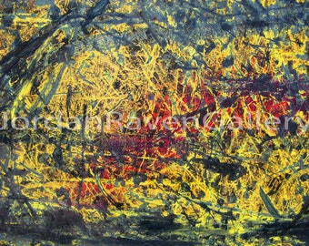 "Abstract Photography, Abstract Art, Fine Art Photography, Unique Art, Yellow, ""Jackson Was Here"""