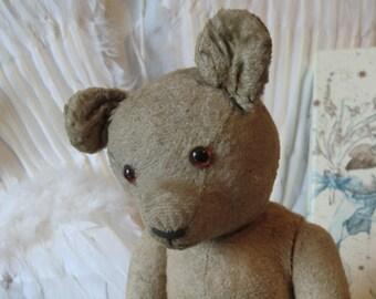 Lovely old small vintage Teddy bear Teddy little old teddy bear unperfect ruined