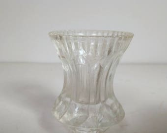 Vintage Clear Glass Toothpick Holder