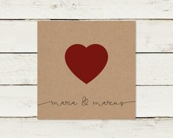 Wedding invitation | Kraft paper | Square | No 1