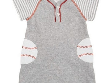 Baseball Raglan One Piece ~ Baby Boy Baseball outfit ~ Mud Pie