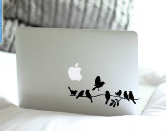Birds  - Macbook Vinyl Decal Sticker / Laptop Decal / iPad Sticker