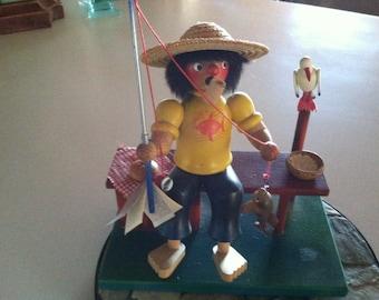 Vintage Christian Ulbricht Fisherman Handmade Smoker