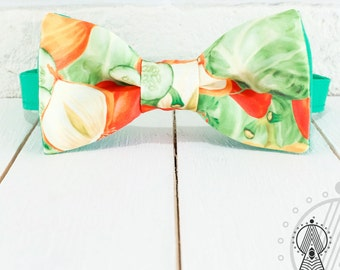 Bow Tie Vegetables, Vegans bow tie, Bow tie for vegetarian, Bowtie green, Bowtie for vegan