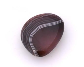 Botswana agate thumb stone, polished agate crystal, small palmstone, stress stone