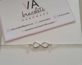 Customized bracelet in Silver 925 with chain and infinite connector