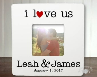 Personalized Boyfriend Picture Frame Long Distance Relationship Gift Ideas Long Distance Boyfriend Gift I Love Us IBFSLOVE