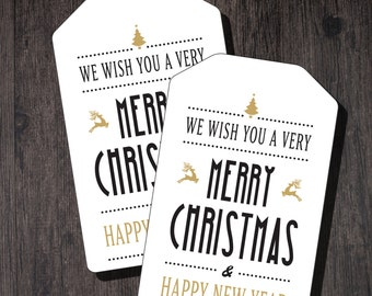 Christmas Gift Tag Printable, Merry  Christmas Gift Tags, Christmas Tag Printable, Printable Xmas Tags, Instant Download, Rustic Tags