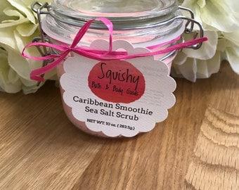 Caribbean Smoothie Sea Salt Scrub - 10 oz