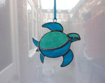 Stained galss Turtle suncatcher,Green turtle suncatcher
