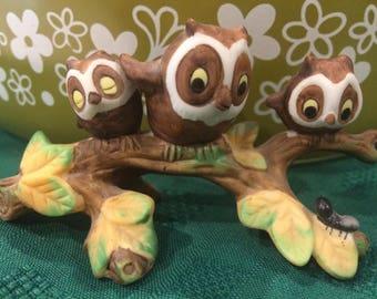Josef Originals Ceramic Owls