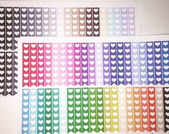 Multi-color Heart Checklist Banners