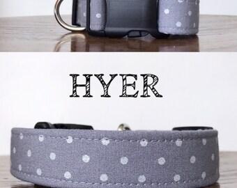 Hyer- Gray Polka Dot Inspired Handmade Collar