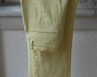 Jeans in pastel yellow, MADELEINE brand, size 44 (88)