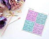 Key -- Faux Glitter Headers -- Matte Planner Stickers