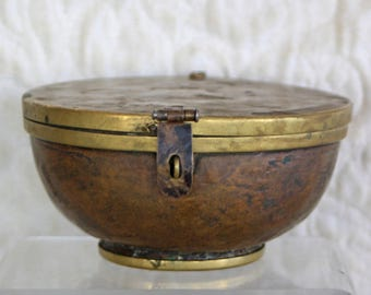 Antique Tibetan ritual bowl container