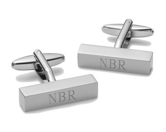 Engraved Cufflinks - Personalized Cuff Link Bars