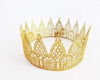 Lace Crown, Toddler Crown, Halo Crown, Tiara, Quincinera, Gold Crown, Princess Party, Toddler Crown, Girl Crown, Adult Crown, Birthday Crown