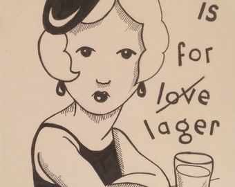 L is for Lager