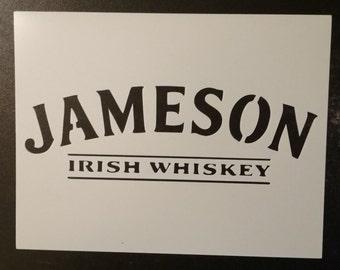 Jameson Irish Whiskey Custom Stencil FAST FREE SHIPPING