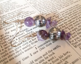 Amethyst earrings for balance and peace