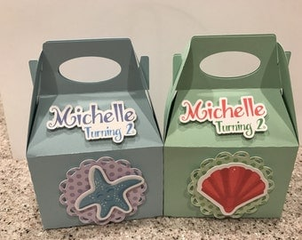 12 Mermaid Treat Boxes - personalized box