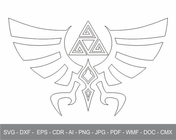 Zelda Triforce Of Hyrule Iron On Transfer Cricut File