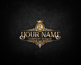 Vintage gold logos - Elegant emblem - monogram luxury logo - Royal Brand Logo - Vector logo - decorative logo