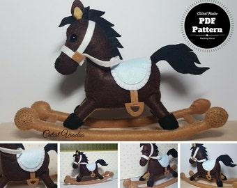 Rocking Horse PDF Felt Pattern