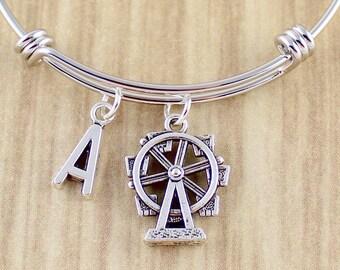 Ferris Wheel Bangle Bracelet || Ferris Wheel Bracelet || Ferris Wheel Jewelry || Carnival Ferris Wheel Gift Ideas || Sweet Ride Accessories