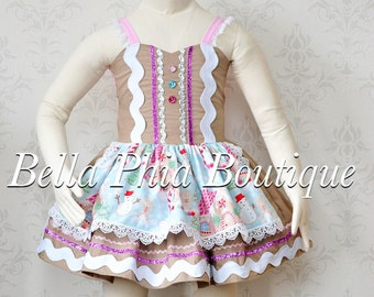 Girls Pastel Gingerbread Dress