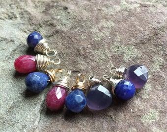 Destash briolettes, faceted teardrop stones, gemstones
