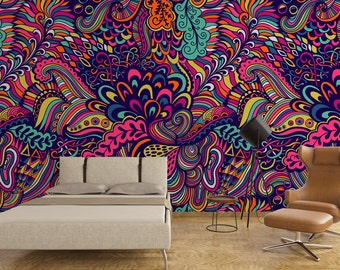 Colorful / Removable Wallpaper / Wall Decor / Wall Mural / Traditional Wallpaper  / Non Woven / 125 W x 250 H cm
