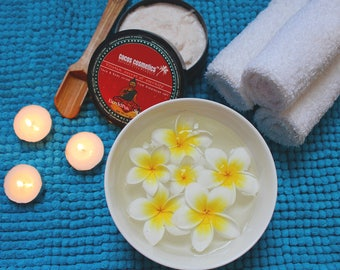 Buddha spa scrub - Himalayan pink salt and fresh coconut butter with peony flower aroma
