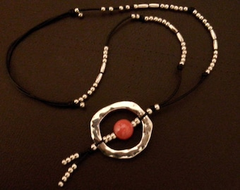 One of 50 style pendant stone Red