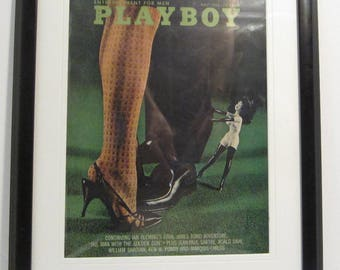 Vintage Playboy Magazine Cover Matted Framed : May 1965 - Anido Johnson, Dirk Ratcliff, Femlin