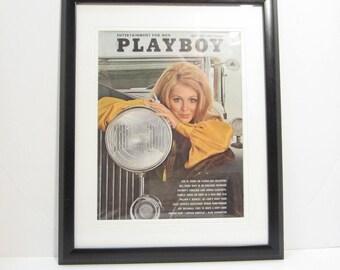Vintage Playboy Magazine Cover Matted Framed : May 1969 - Paulette Lindberg