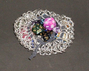 Chainmaille Dice Bag Table Top Gaming Larp coin bag