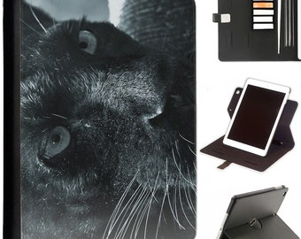 pantha dark eyes Apple ipad 360 swivel i pad leather case cover with card slots
