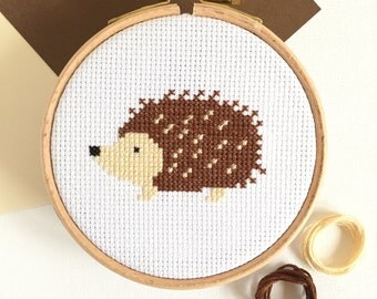 Cross stitch kit - Hedgehog - For Beginners