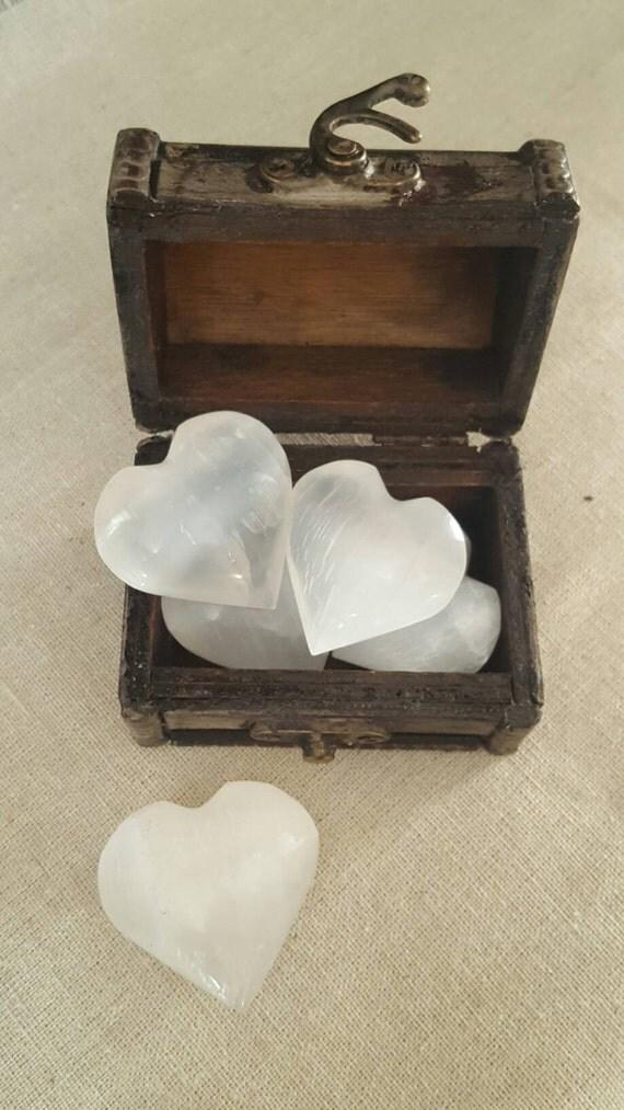 Selenite Heart // Gift // Healing // Meditation